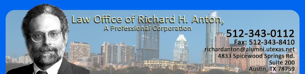 Law Office of Richard H. Anton, A Professional Corporation, family law in Austin, Texas